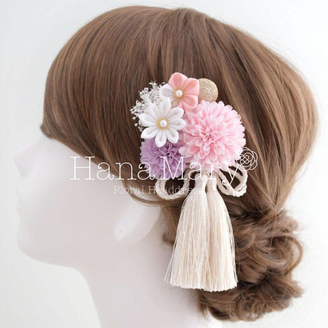 クリップに変更 つまみ細工 卒業式 成人式 髪飾り 結婚式