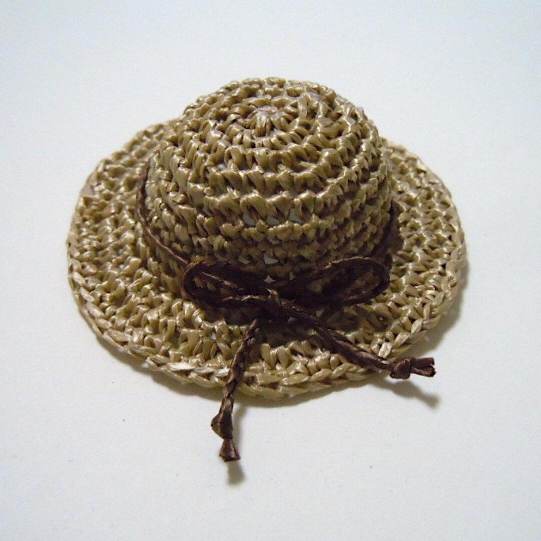 ベーシックな夏の帽子:リネン色(ドール用:頭周り約13cm/約5インチ)