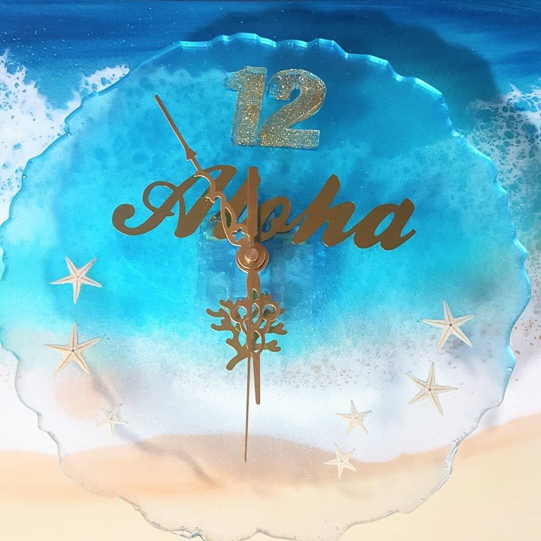 海の時計 クリア アクア Aloha 大きめ
