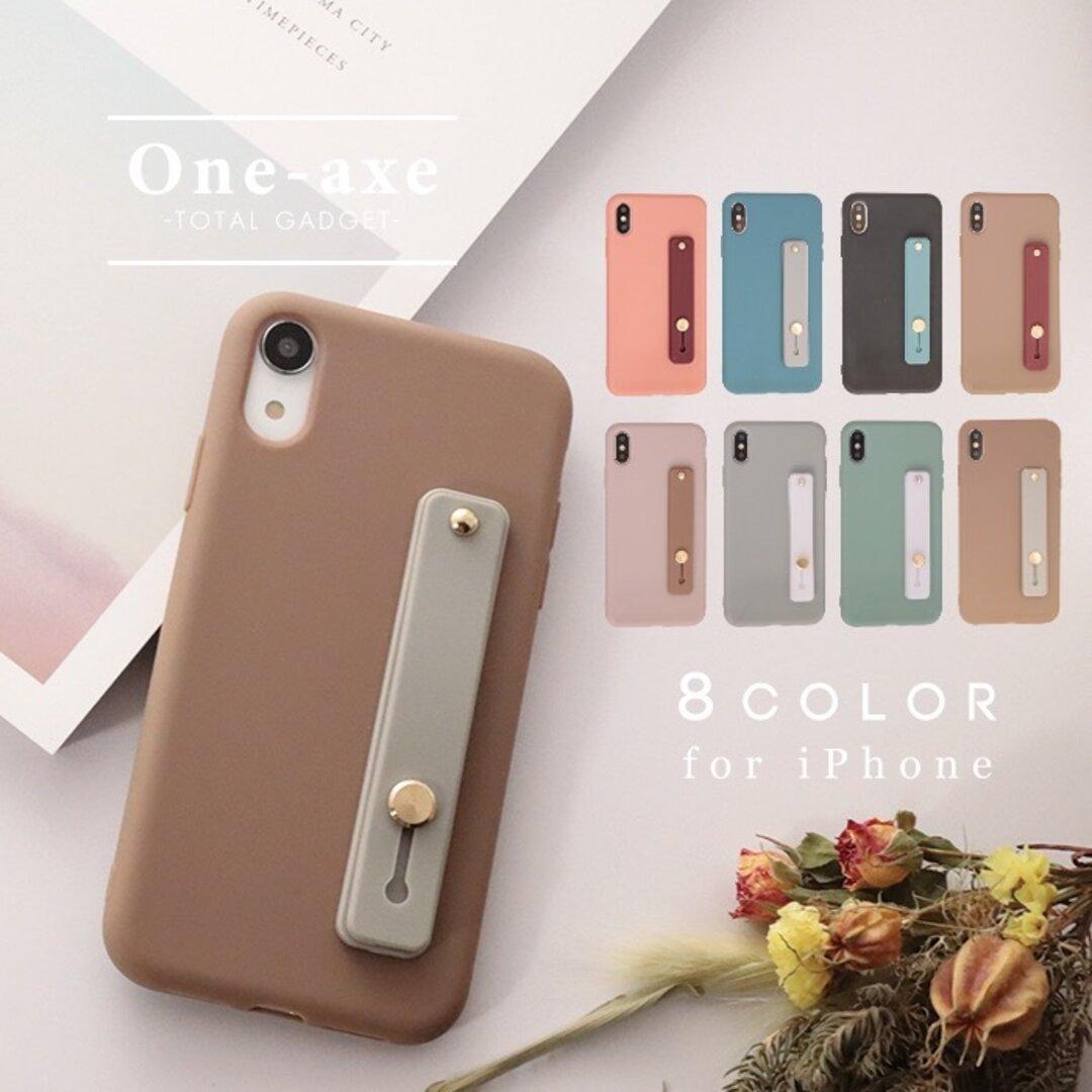 【送料無料】 落下防止ベルト iPhone se 第二世代 se2 12 11 pro xr カバー ケース くすみカラー かわいい オシャレ シンプル