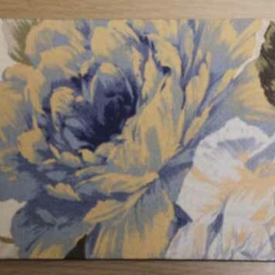 マウスパッド・絵画のような青い花(1点もの)