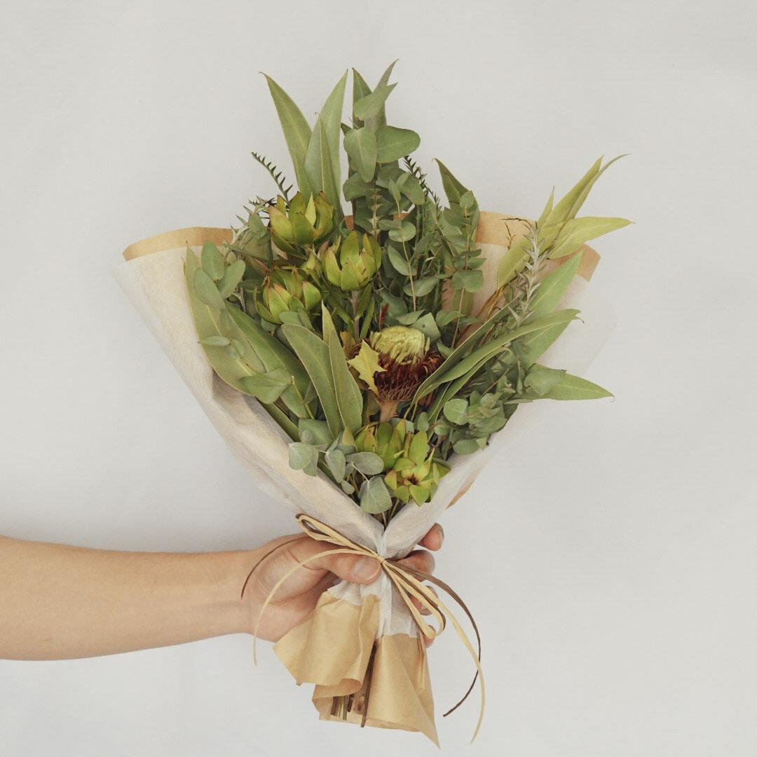 グリーンブーケ ドライフラワー 花束 スワッグ