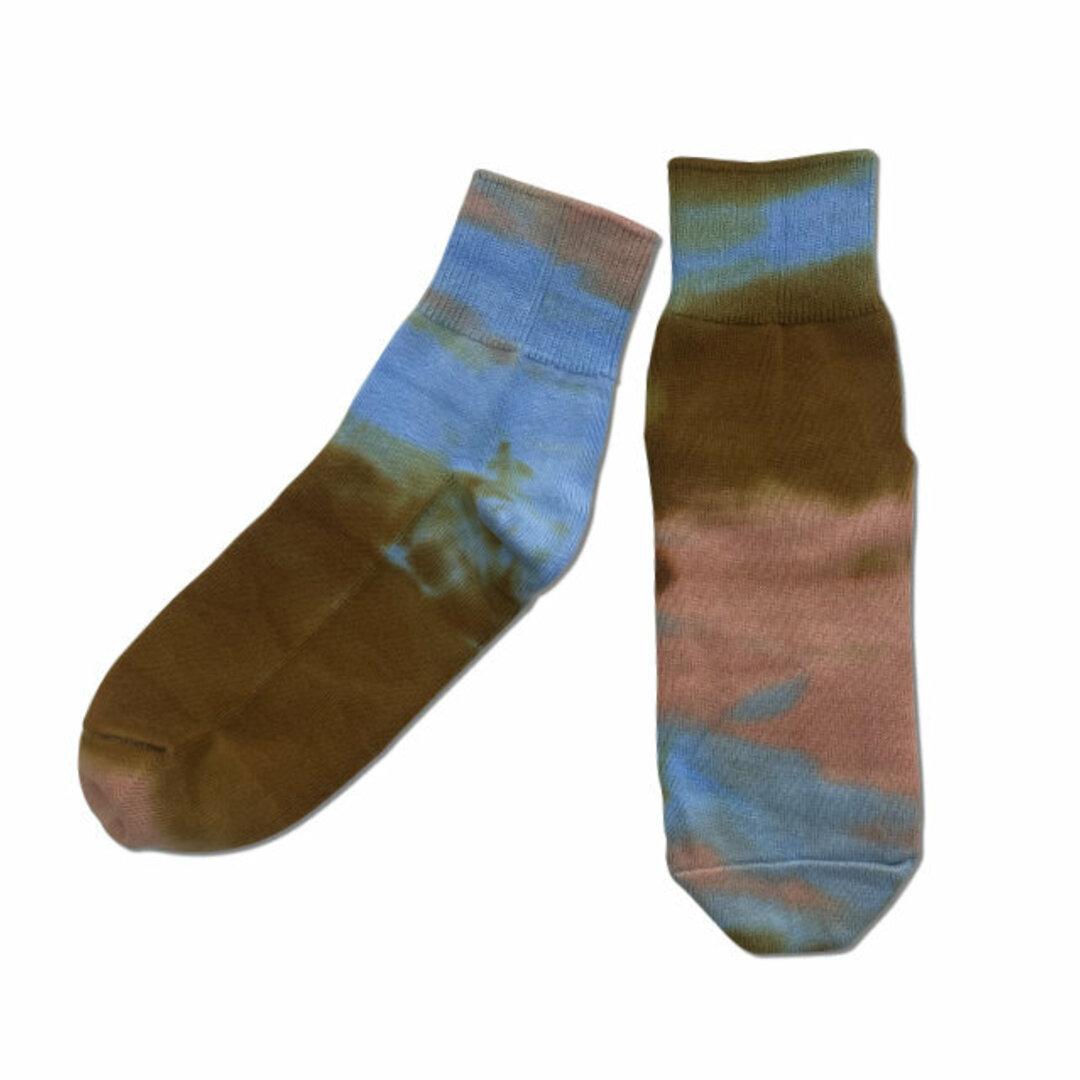 【メンズ】タイダイ染め ショート ソックス [ 国産 ・ 日本製 ]靴下:KTS-364