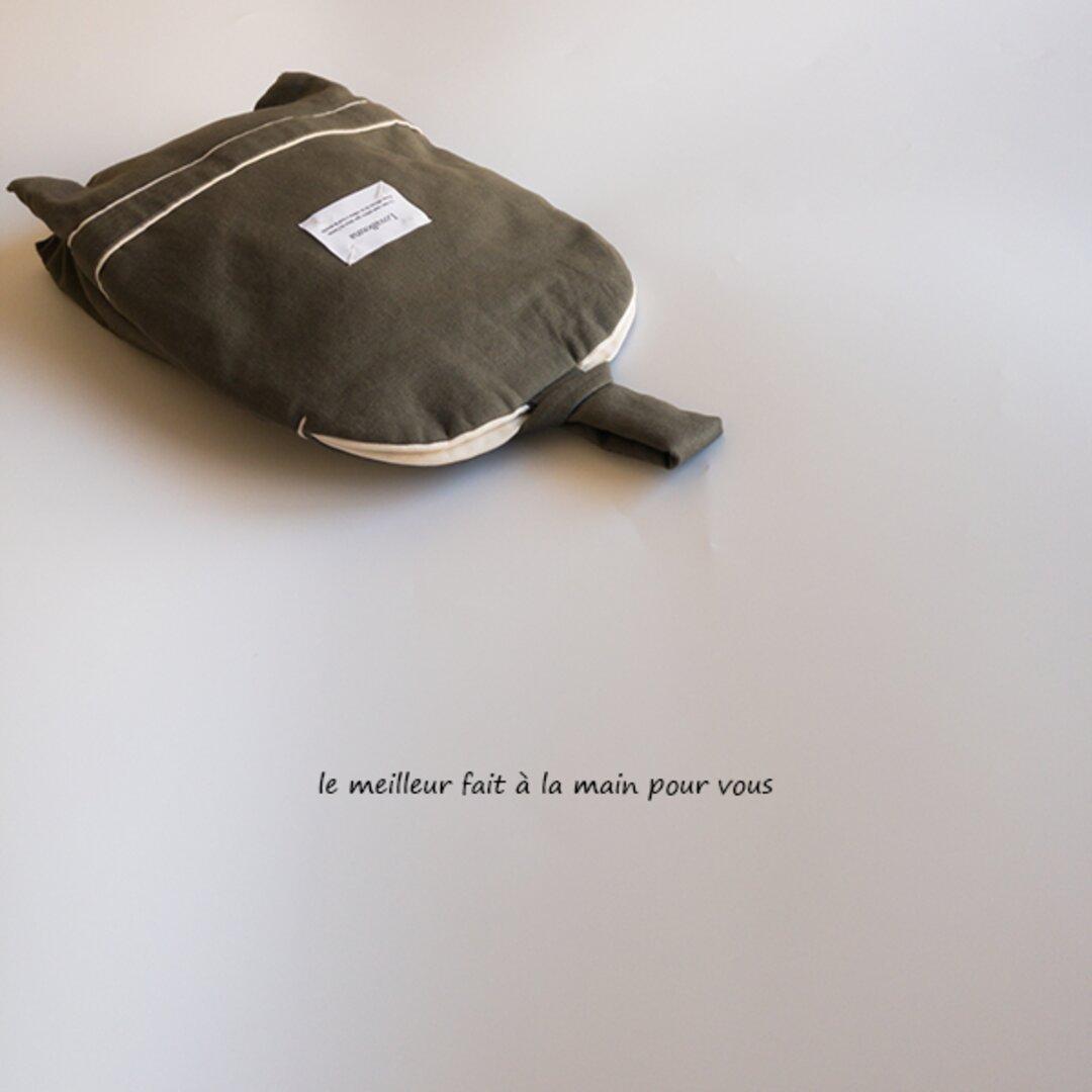 小さな手作りシリーズ オリジナルシューズバッグ カーキ 入園 入学 上履き入れ