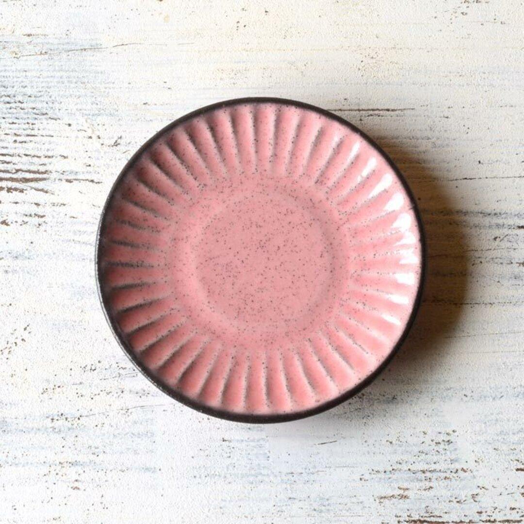 人気作品 しのぎ彫り 小皿(ピンク)/r1mpi