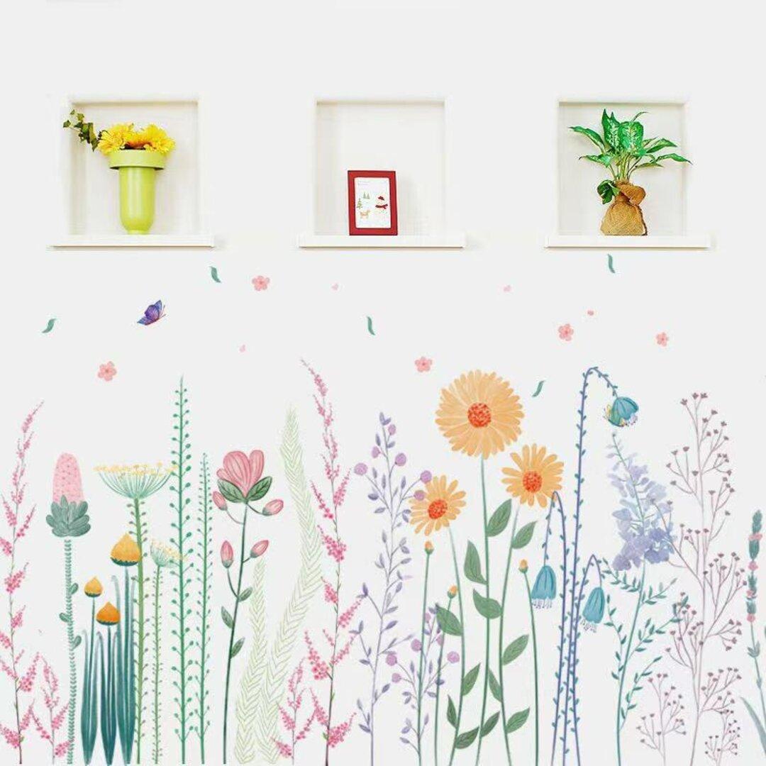 ウォールステッカー S86 北欧 植物 花壇 花 DIY 壁飾り 壁シール インテリアシート 剥がせるシール 送料無料