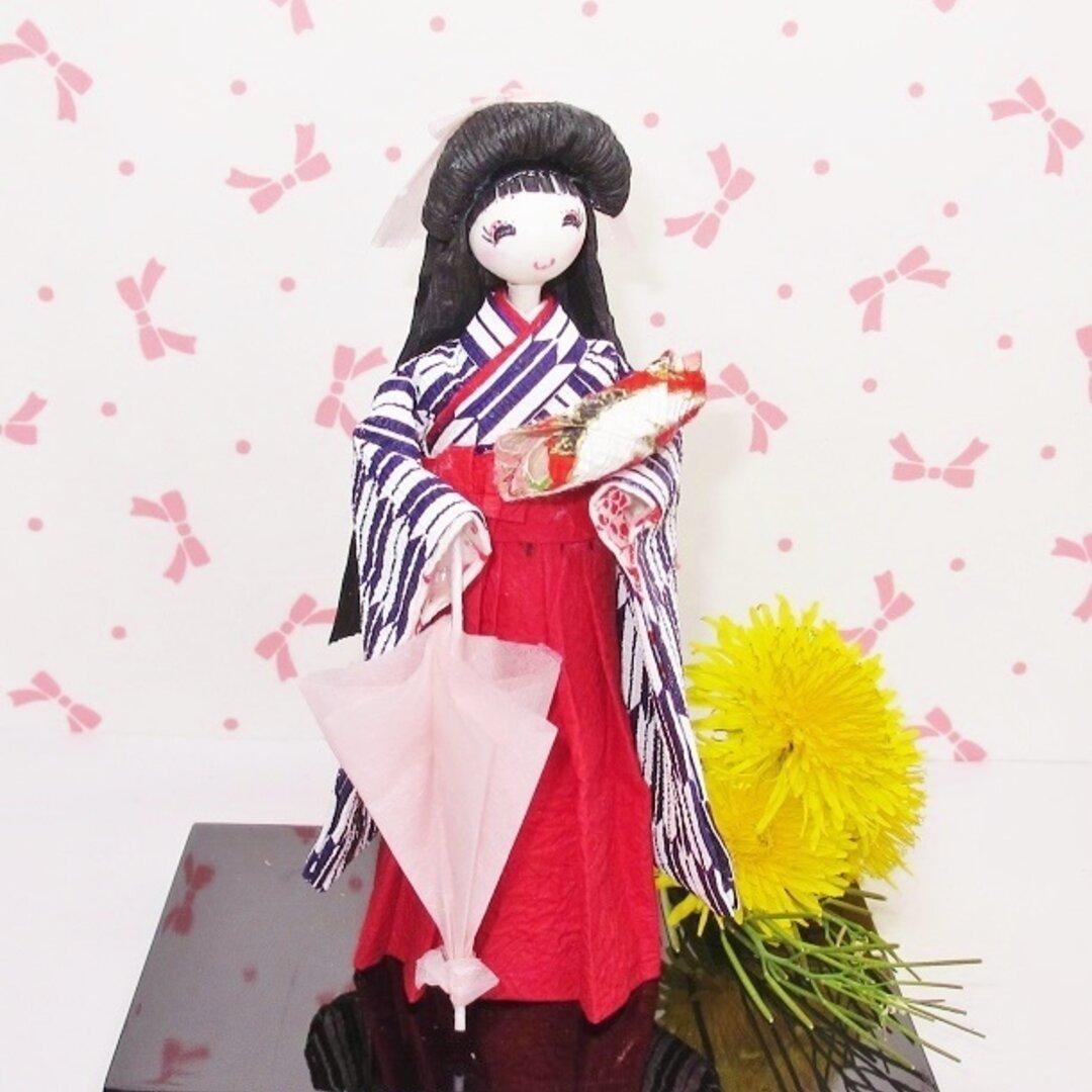 2021/5/31日迄母の日早割和紙人形可愛いはいからさん💕袴 友禅和紙人形💕