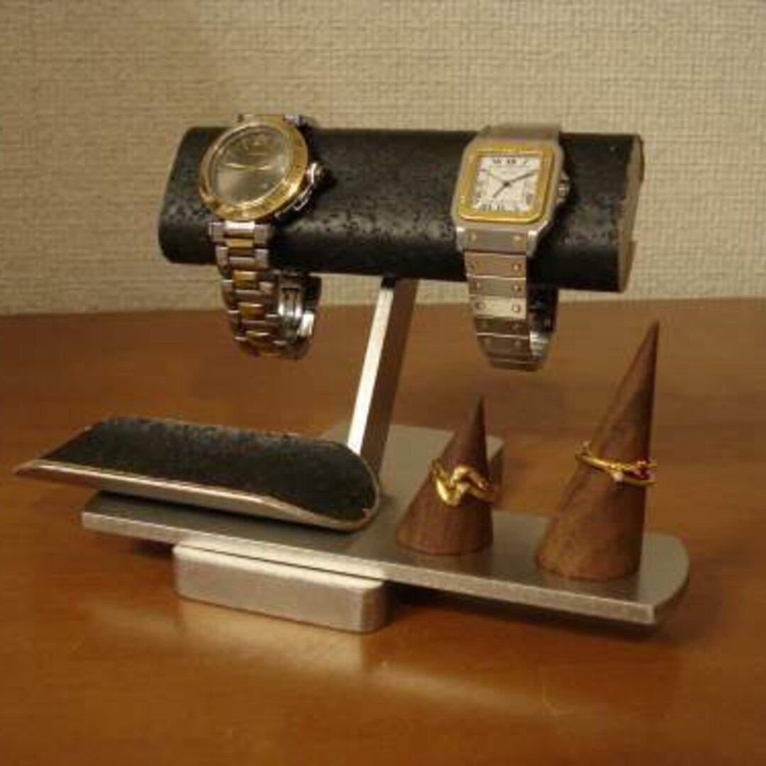 バレンタインデーに間に合います♬ブラック腕時計&リングスタンド 受注販売