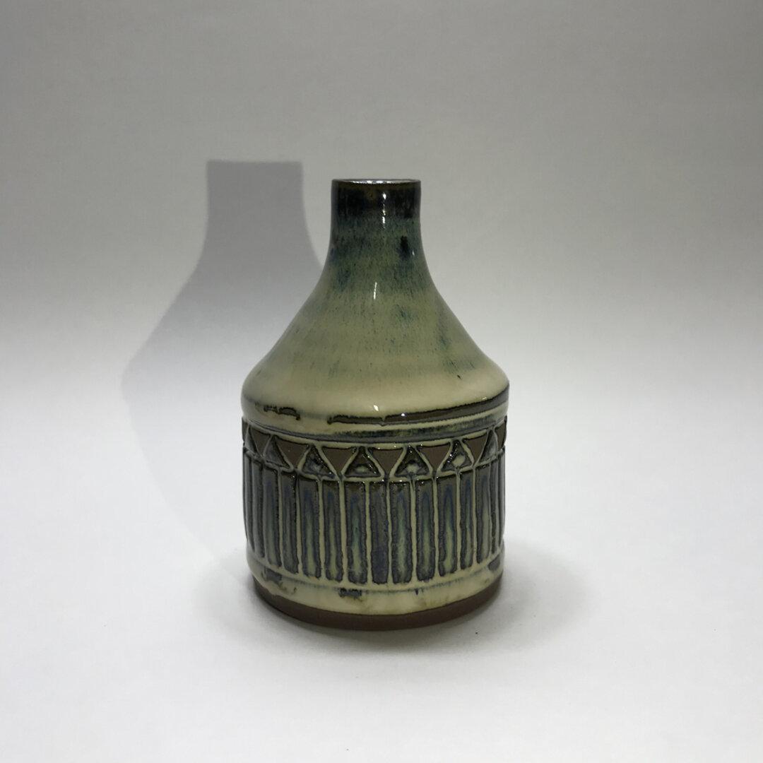 天藍乳白花瓶608