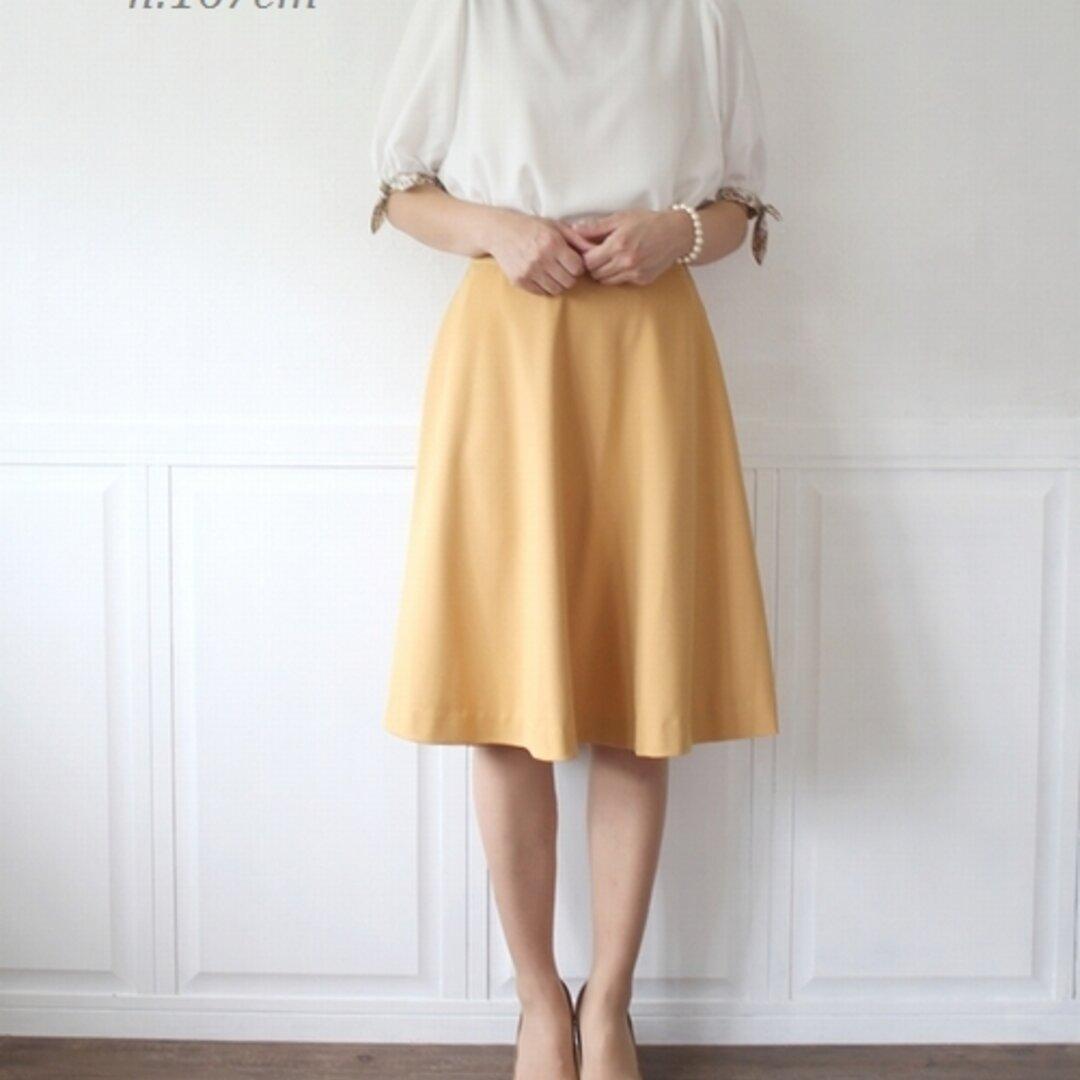 Lサイズ ミモレ丈 サーキュラー フレアスカート  affetto ハンドメイド