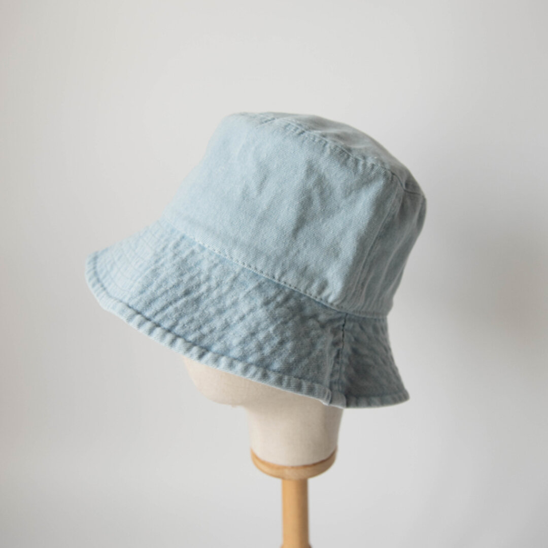 ◇ 全3色 ◇ 夏の日よけ帽 カジュアル 帽子  日差し対策 コットン ユニセックス UVカット ナチュラル  つば広  バケットハット シンプル