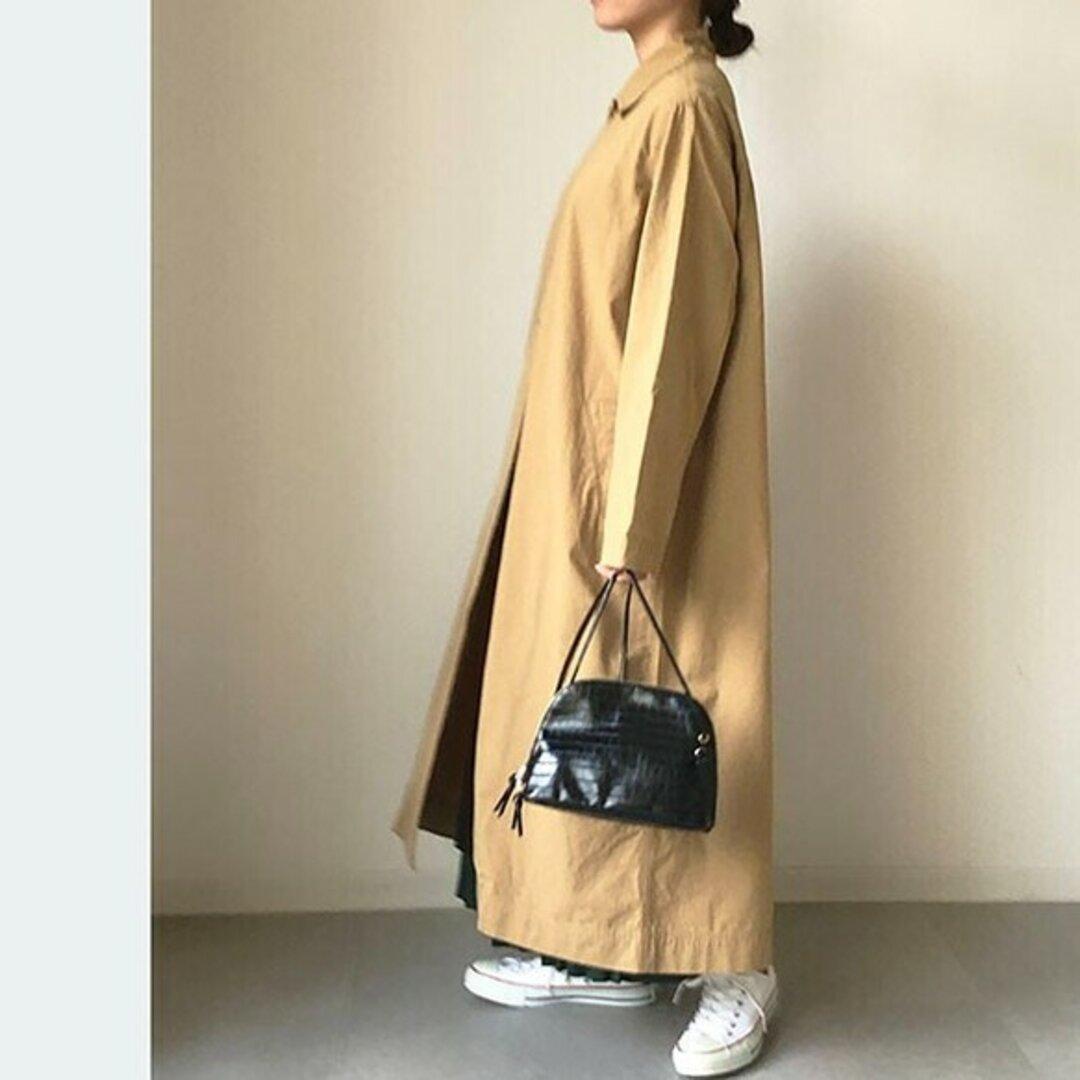 送0 新作秋コート ウォッシュ加工のビンテージライクオーバーサイズコート【ビンテージライクコート】