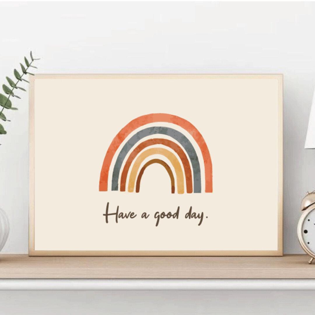 インテリアポスター インテリアアート【rainbow】A4サイズ 横