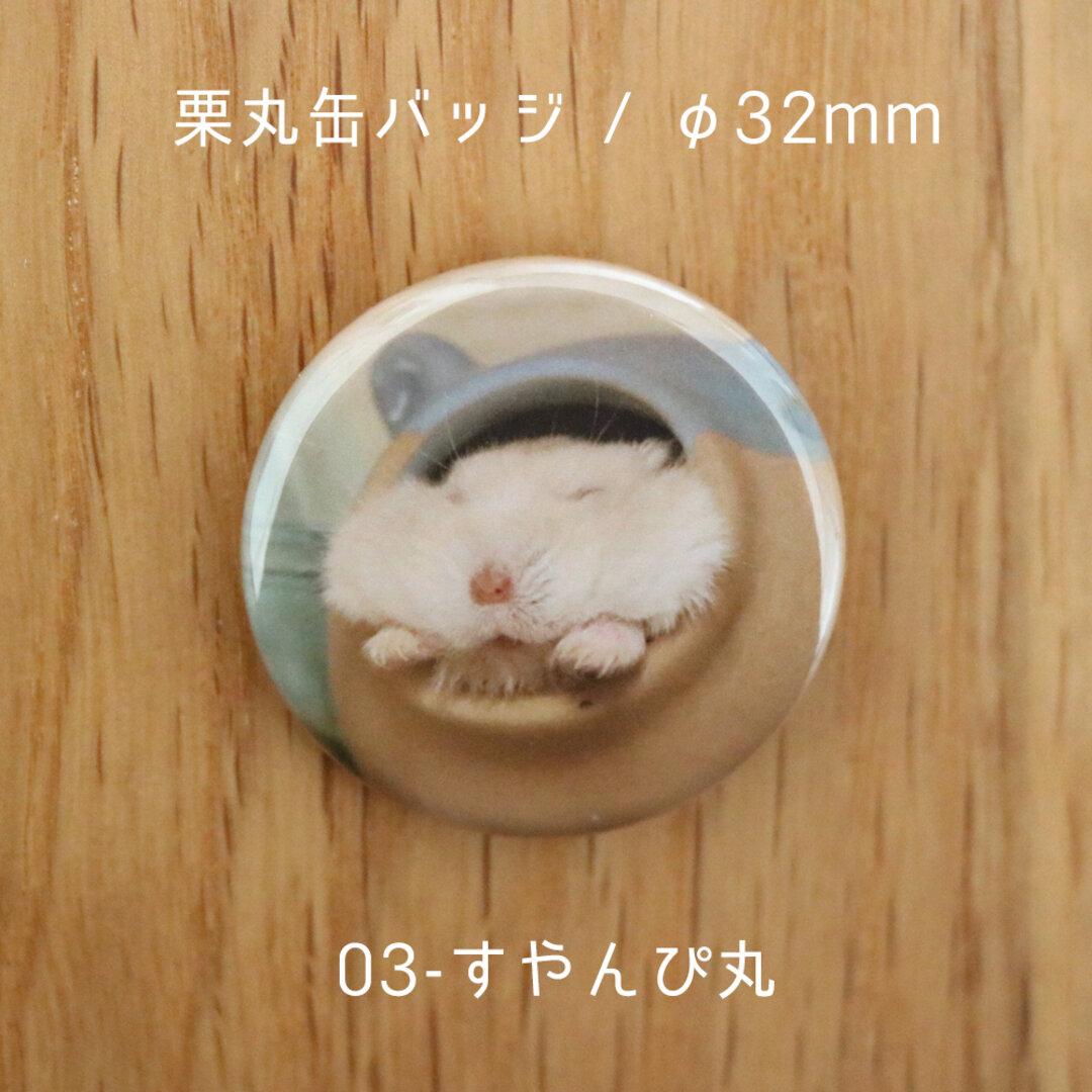 栗丸缶バッジ(32mmタイプ)【03-すやんぴ丸】