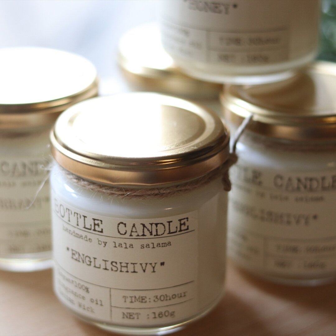 SOY BOTTLE CANDLE【wood wick】
