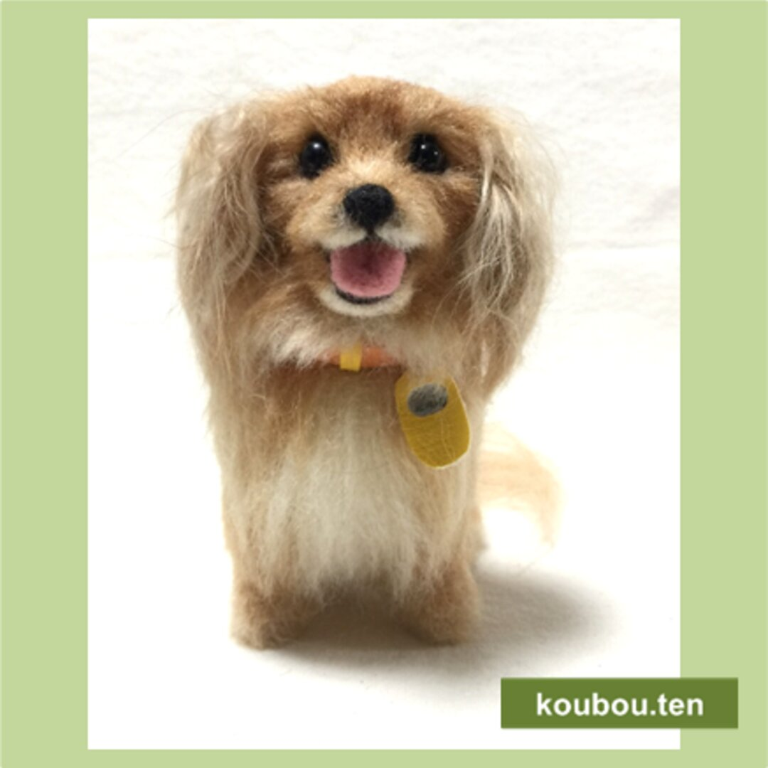 【オーダーメイド】キャバリア☆犬毛フェルトの小さなオブジェ「チビわんこ」お写真をモデルにお作りします