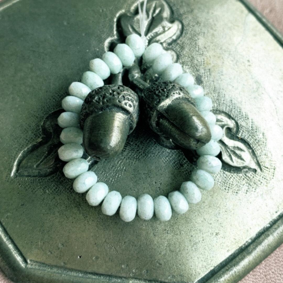 【1連30コセット】JIRI*IVANA#czech beads#チェコビーズ tiny rondel5✖️3㎜ luster light gray