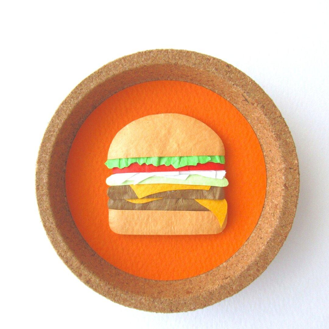 【マグネット】「ハンバーガー」のペーパーアート
