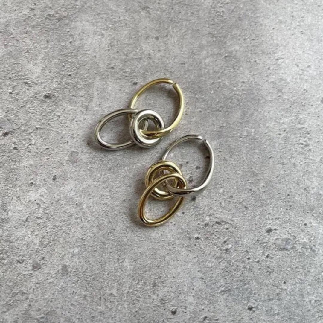 再販⭐︎イヤーカフ  gold × silver 4way