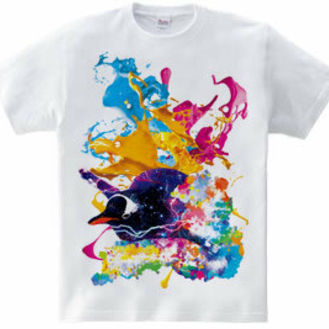 アートペンギンTシャツ「Paint Penguin」