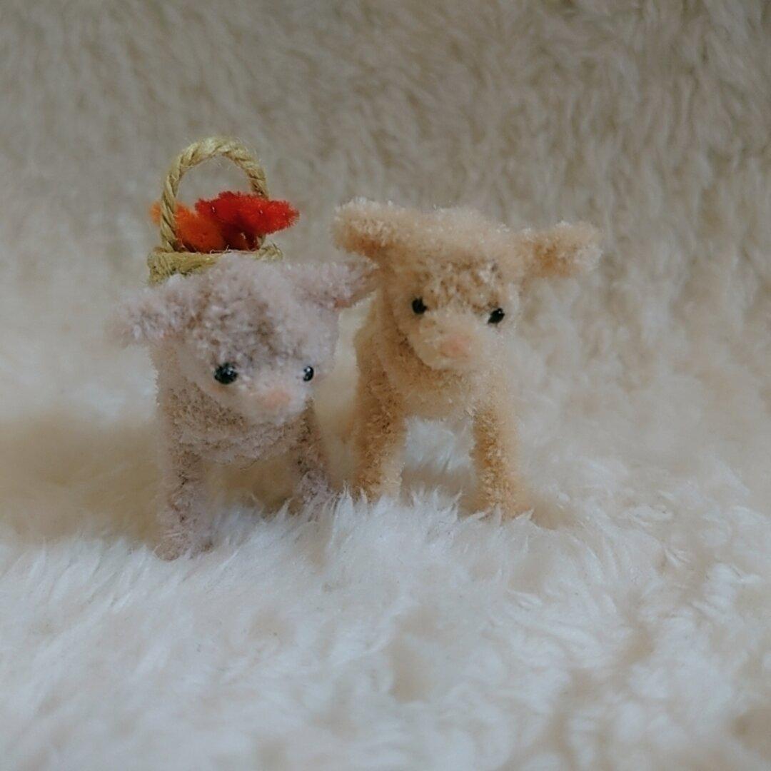 ミニチュアモール❁牧場の人気者子羊❁