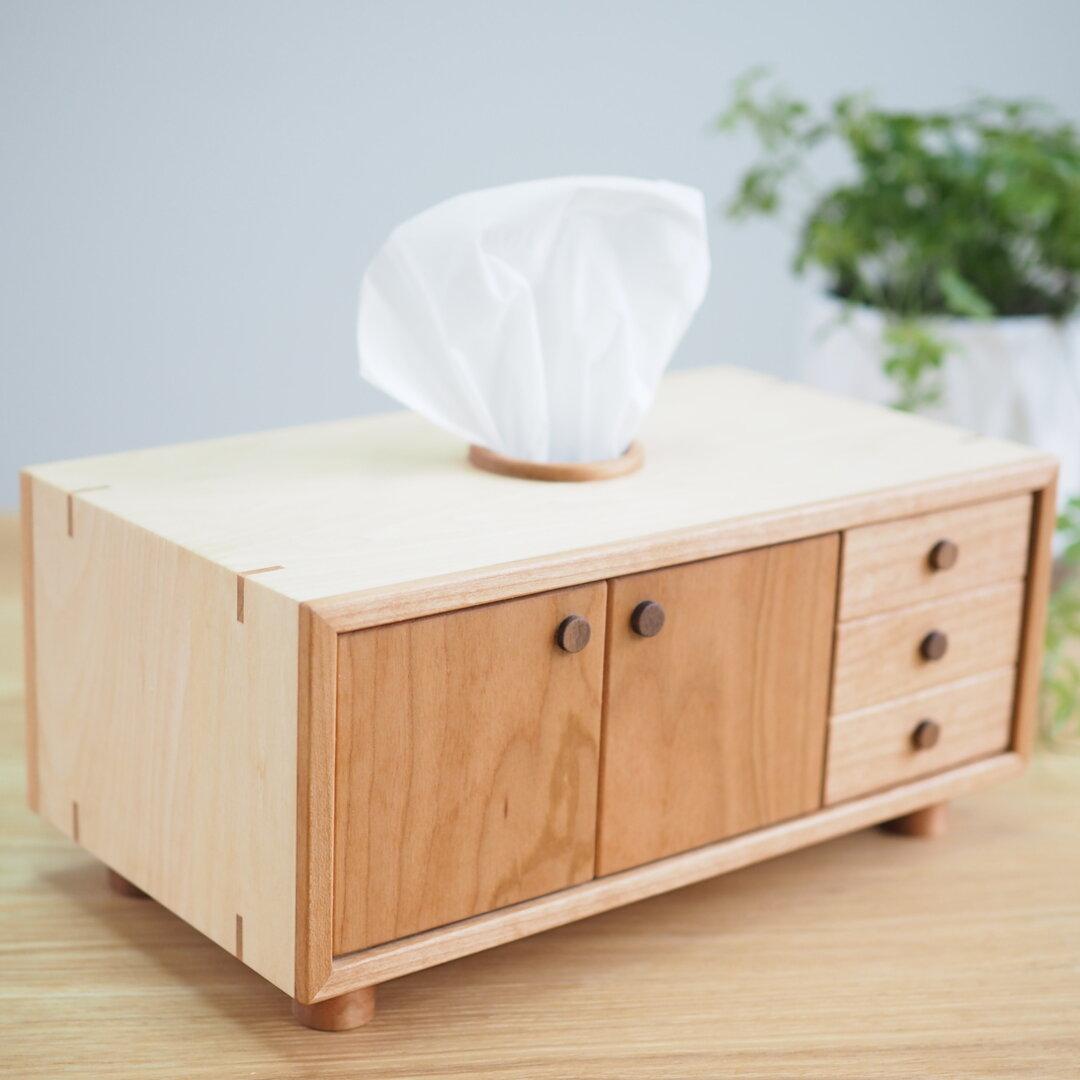木製 ティッシュケース【side board】