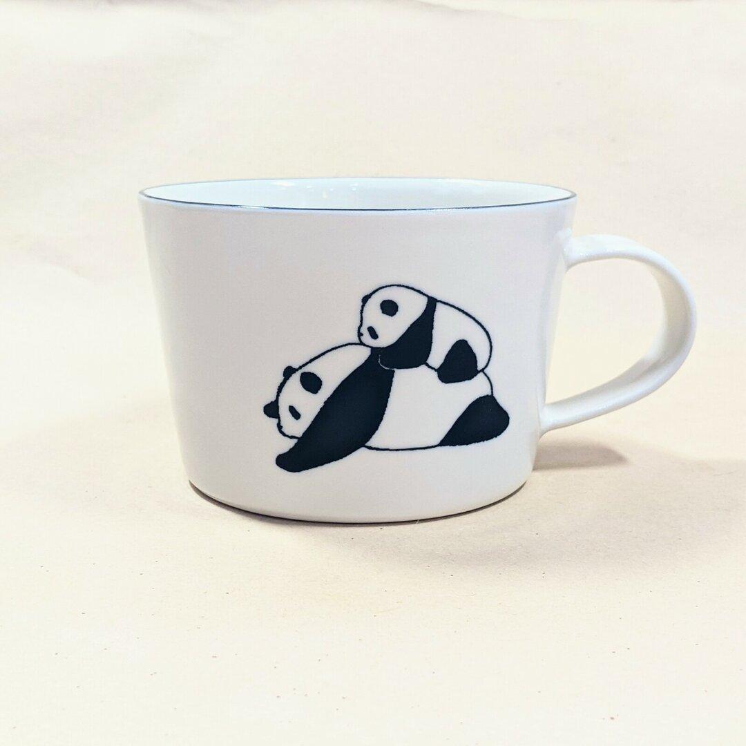 パンダスープカップ(親子)