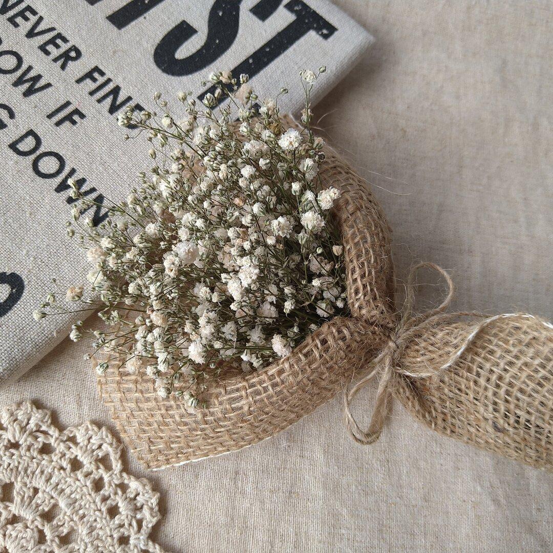 *再……販*北海道産かすみ草のミニブーケ💐大人シック  ウェディング  結婚式  贈り物  大人可愛い  お祝い