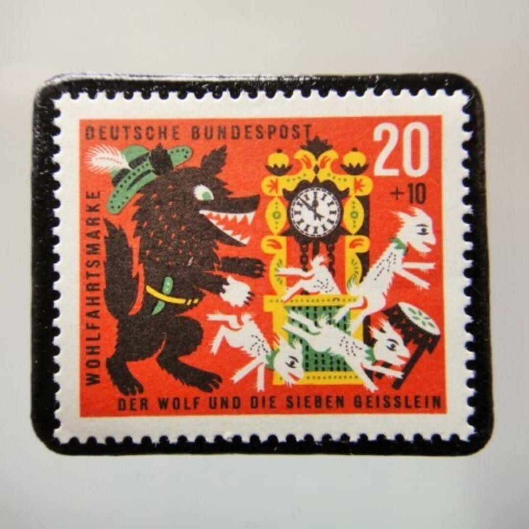 ドイツ 童話切手ブローチ 5150