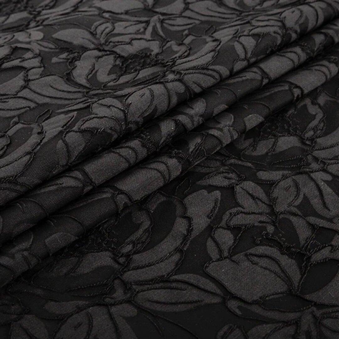 高級ドレス用生地  ジャガード 黒 145cm*1m