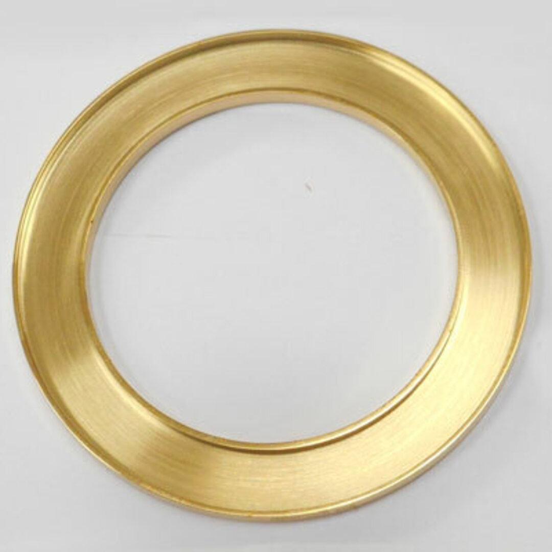 S◆Pキラキラ アクセサリー パーツ サークル 円形 チャーム 外径:42.0mm 手作り (ハンドメイド) ペンダントフレーム パーツ ステンレス316L (ゴールド)