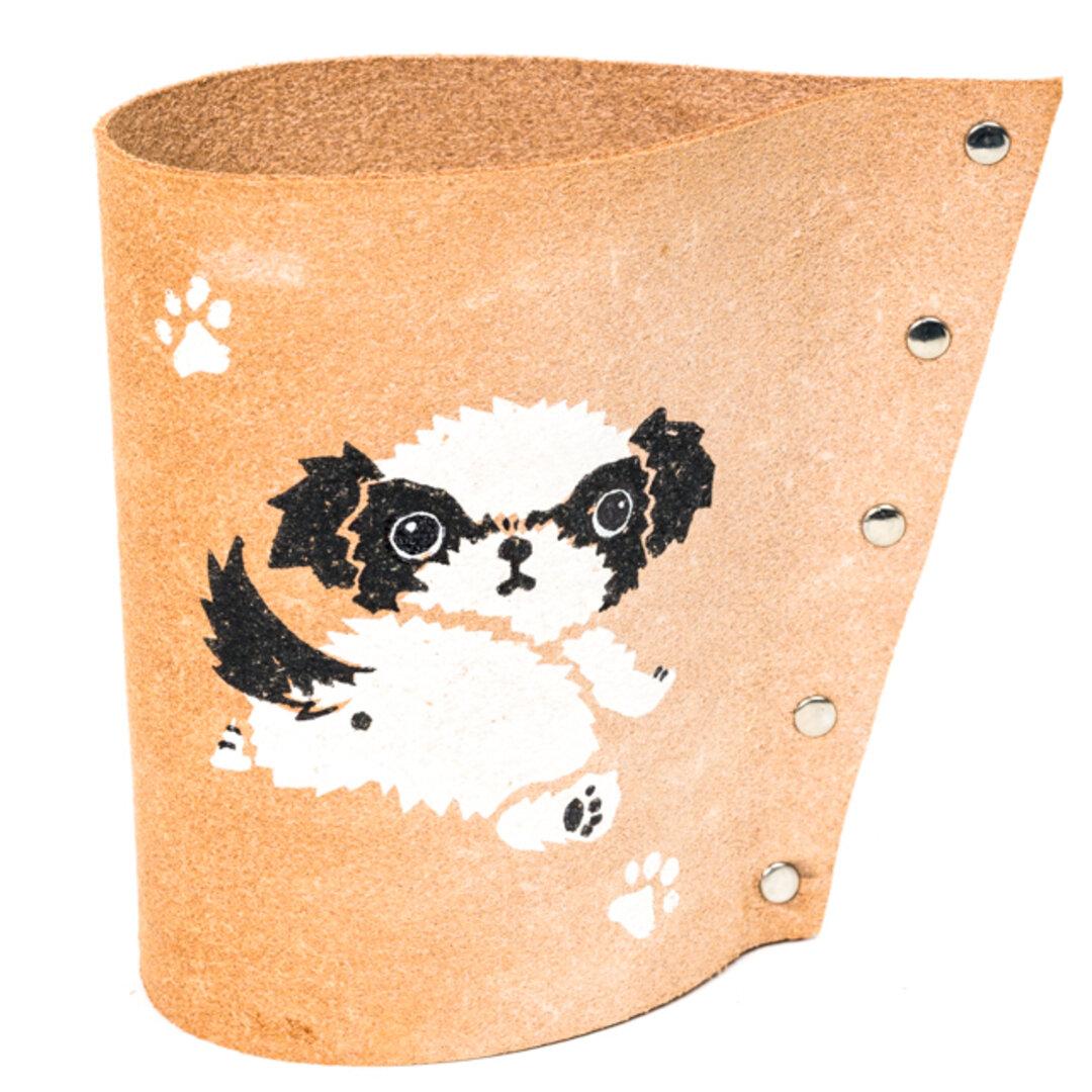 シーズー ペン立て コーヒーフィルターホルダー 小物入れ カトラリースタンド メガネスタンド 犬 雑貨 オーナーグッズ プレゼント ギフト ハンドメイド かわいい カワイイ