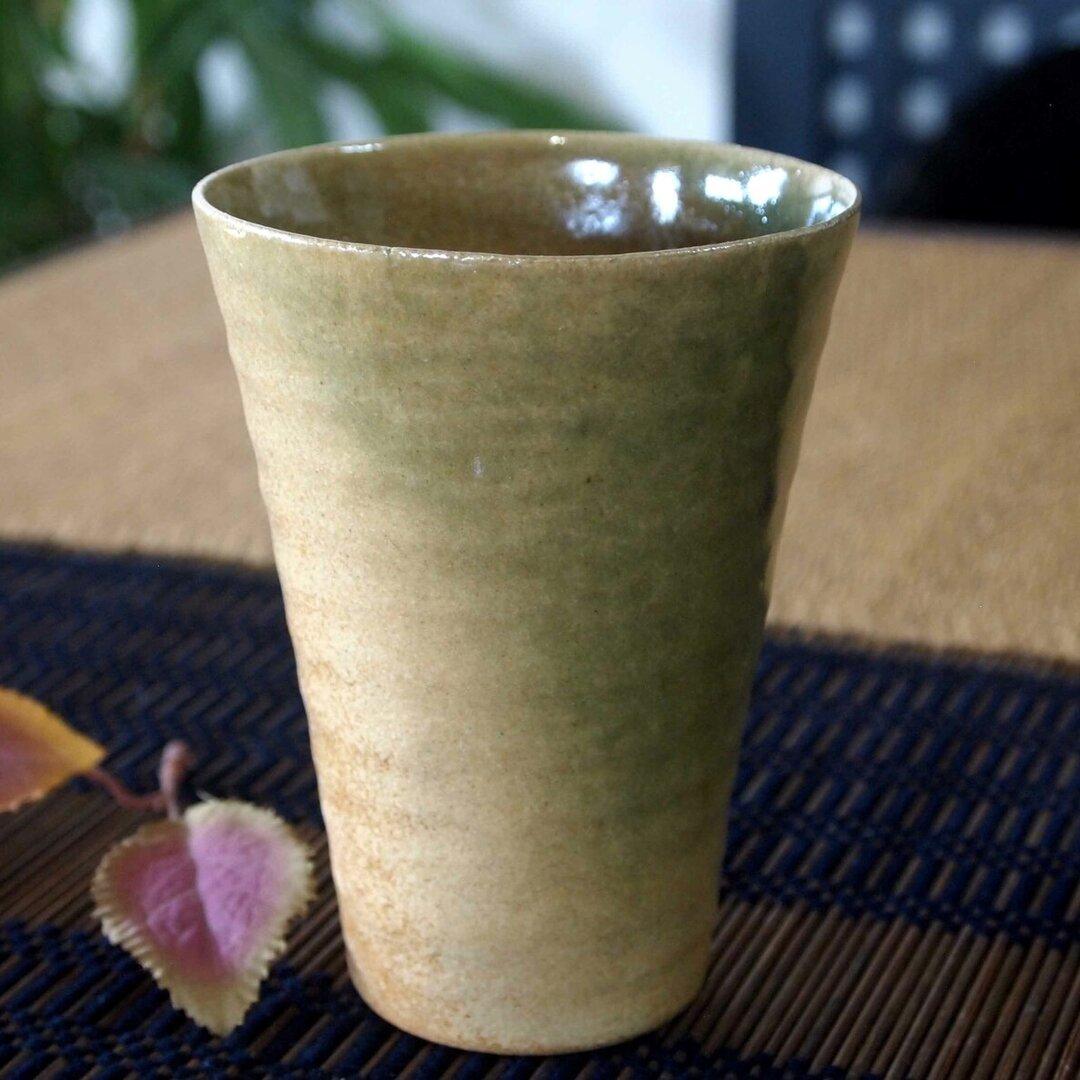 織部のビアカップ