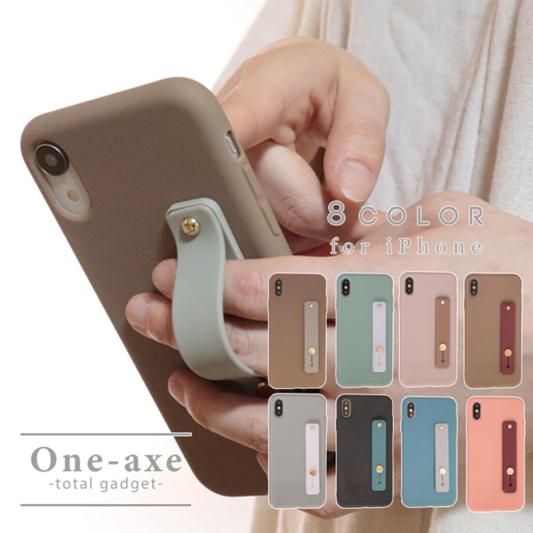 【送料無料】 iPhone 12 落下防止ベルト se 第二世代 se2 11 pro xr カバー ケース くすみカラー かわいい オシャレ シンプル