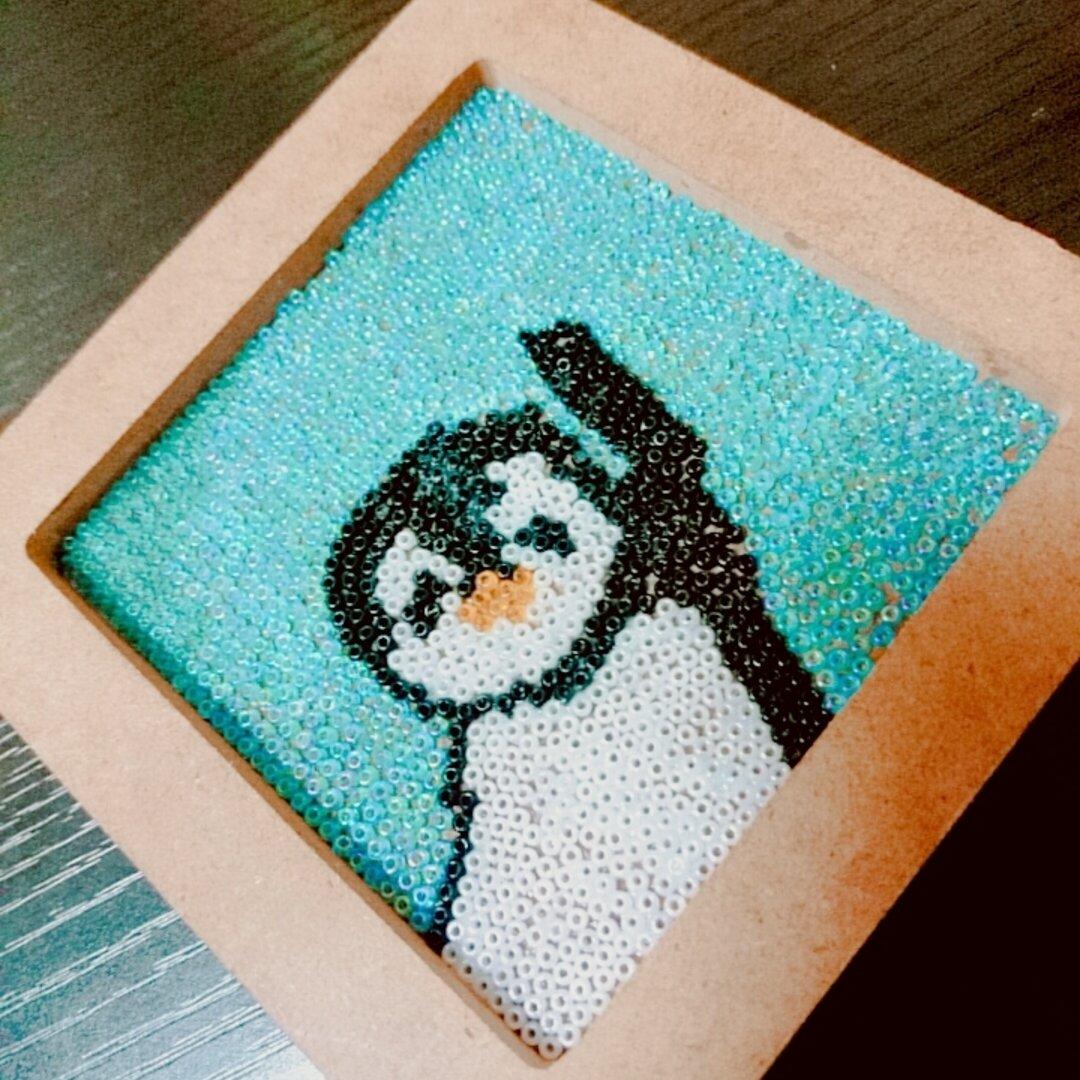 ビーズアート【ペンギン】