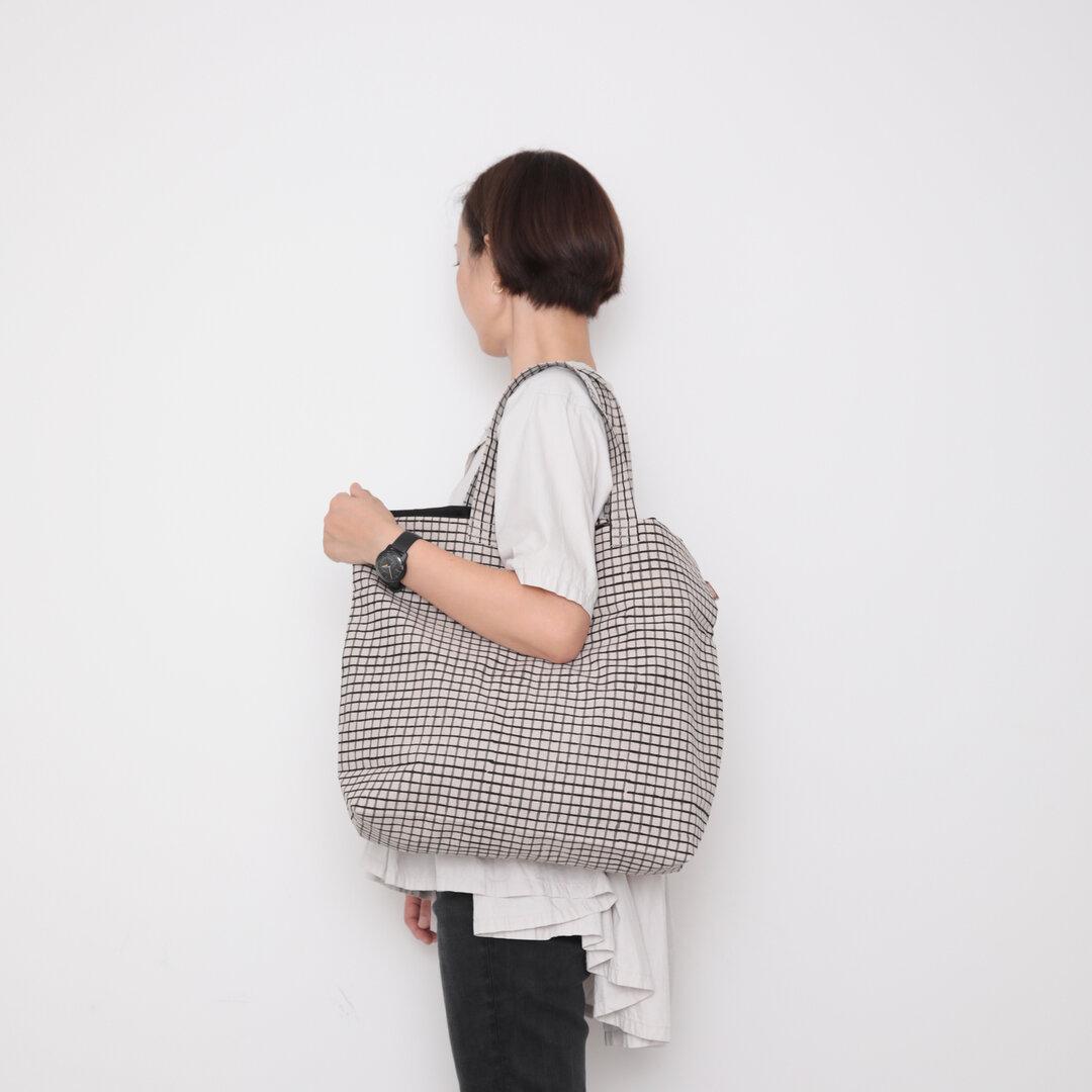 Hand block print kinchaku bag / koushi