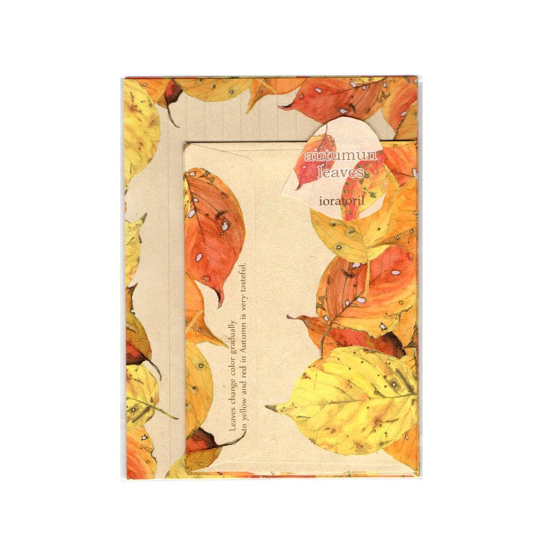 *再販*秋の葉のレターセット*