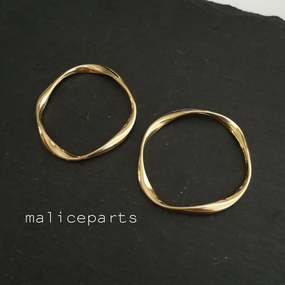 【2169】②4個 Wave design ring