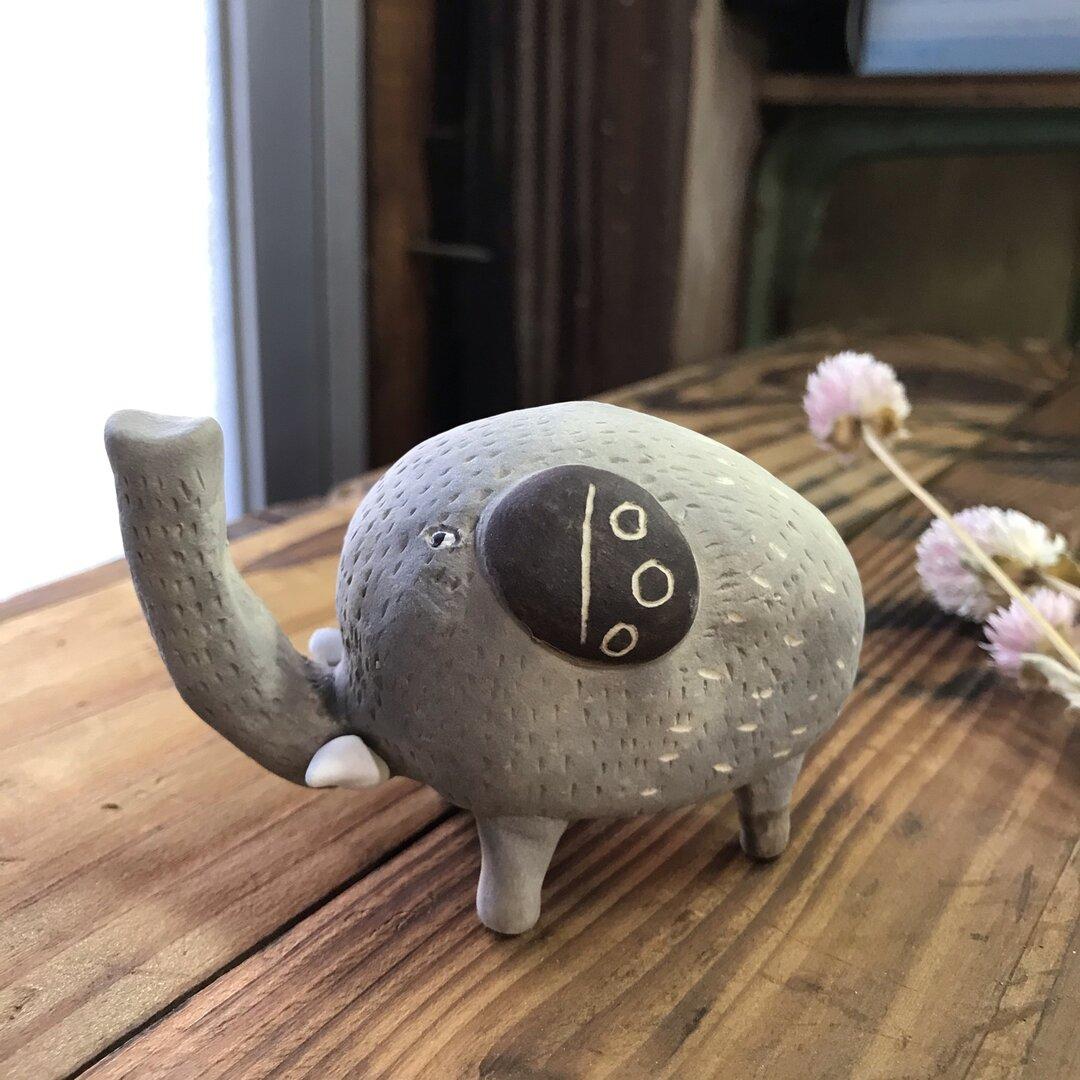 ぞう(ピンク)  陶製 /Elephant/大象