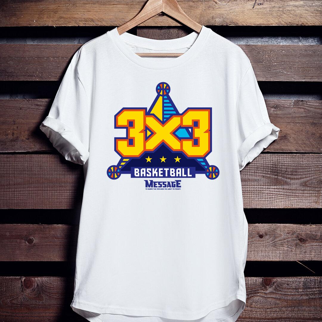 バスケTシャツ「3x3 BASKETBALL」