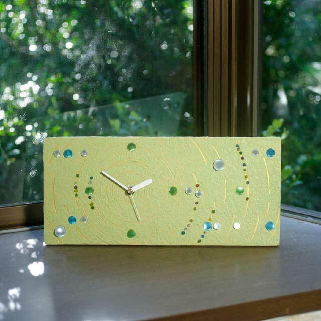 ビー玉の置き時計、掛け時計-3