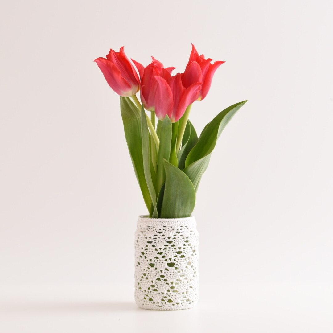 【特集掲載】アラベスク風レースの花瓶(Lサイズ)