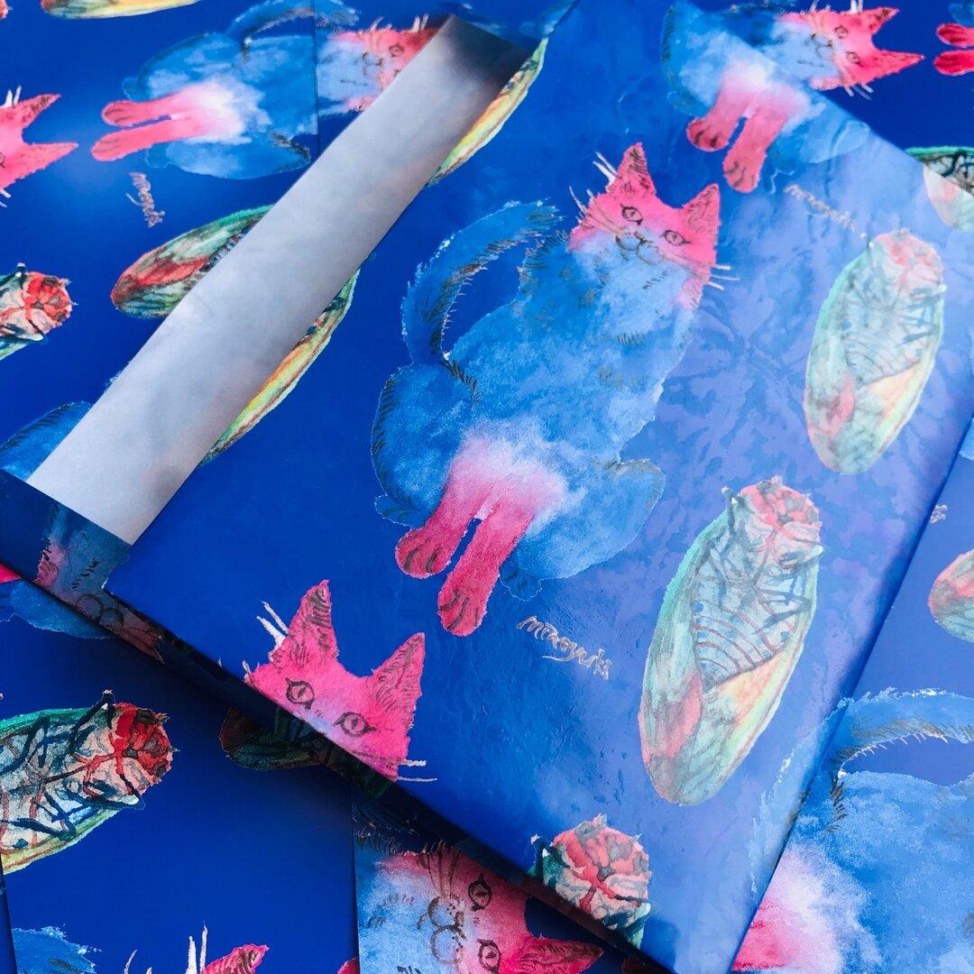 Chat et cigale -Waxpaper Bookcover