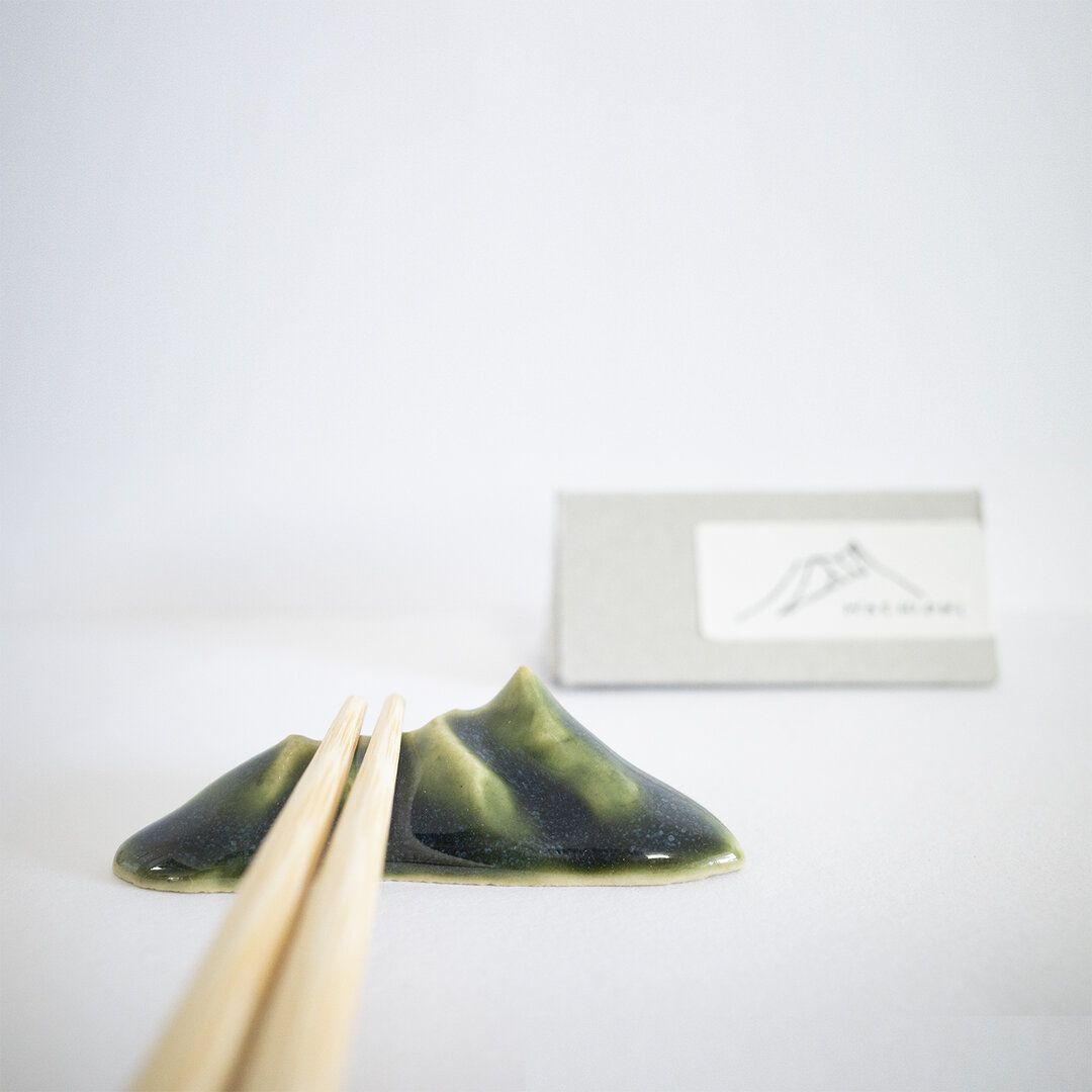 山の箸置き(緑)