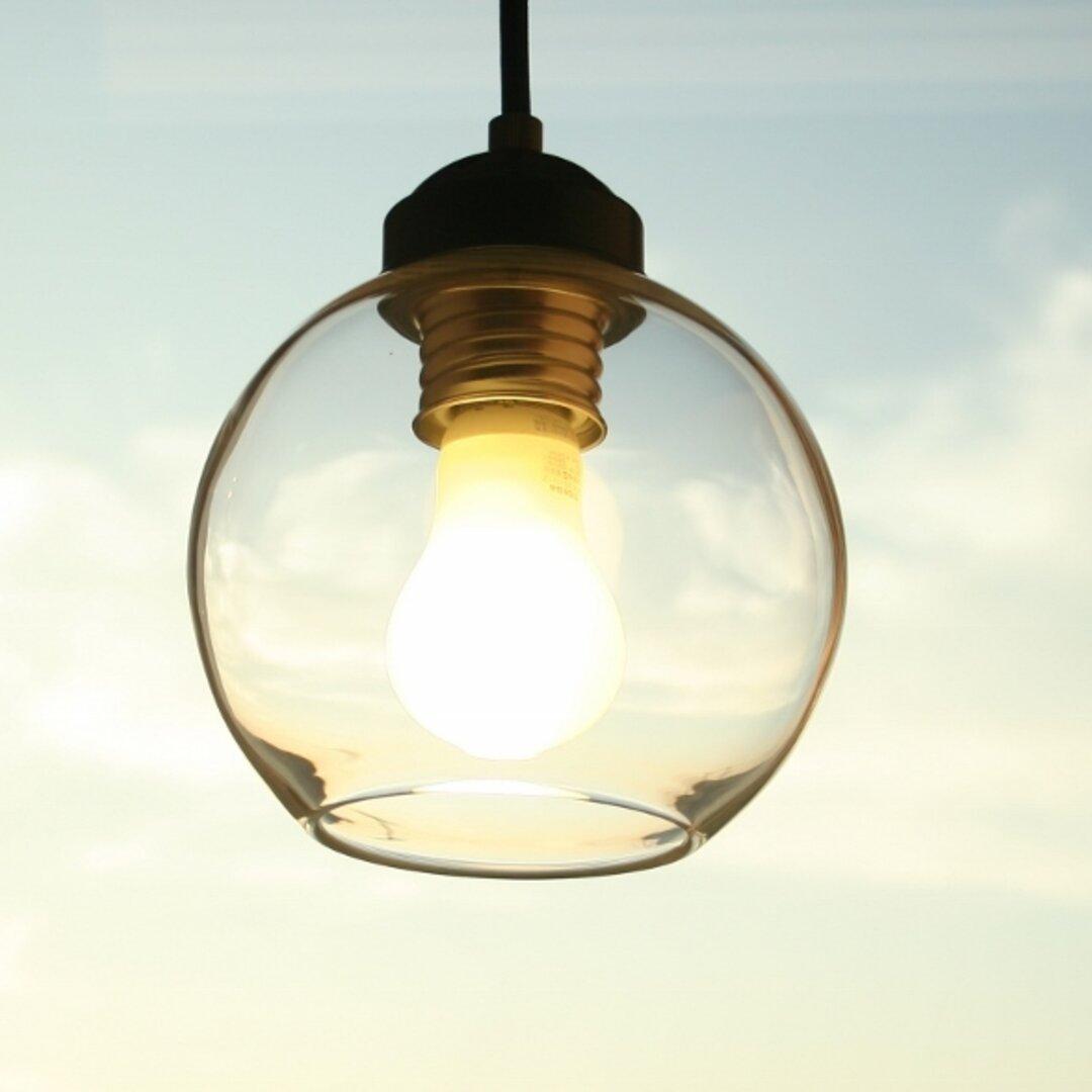 ガラスのペンダントライト 丸いガラスのランプ LED 【送料無料】