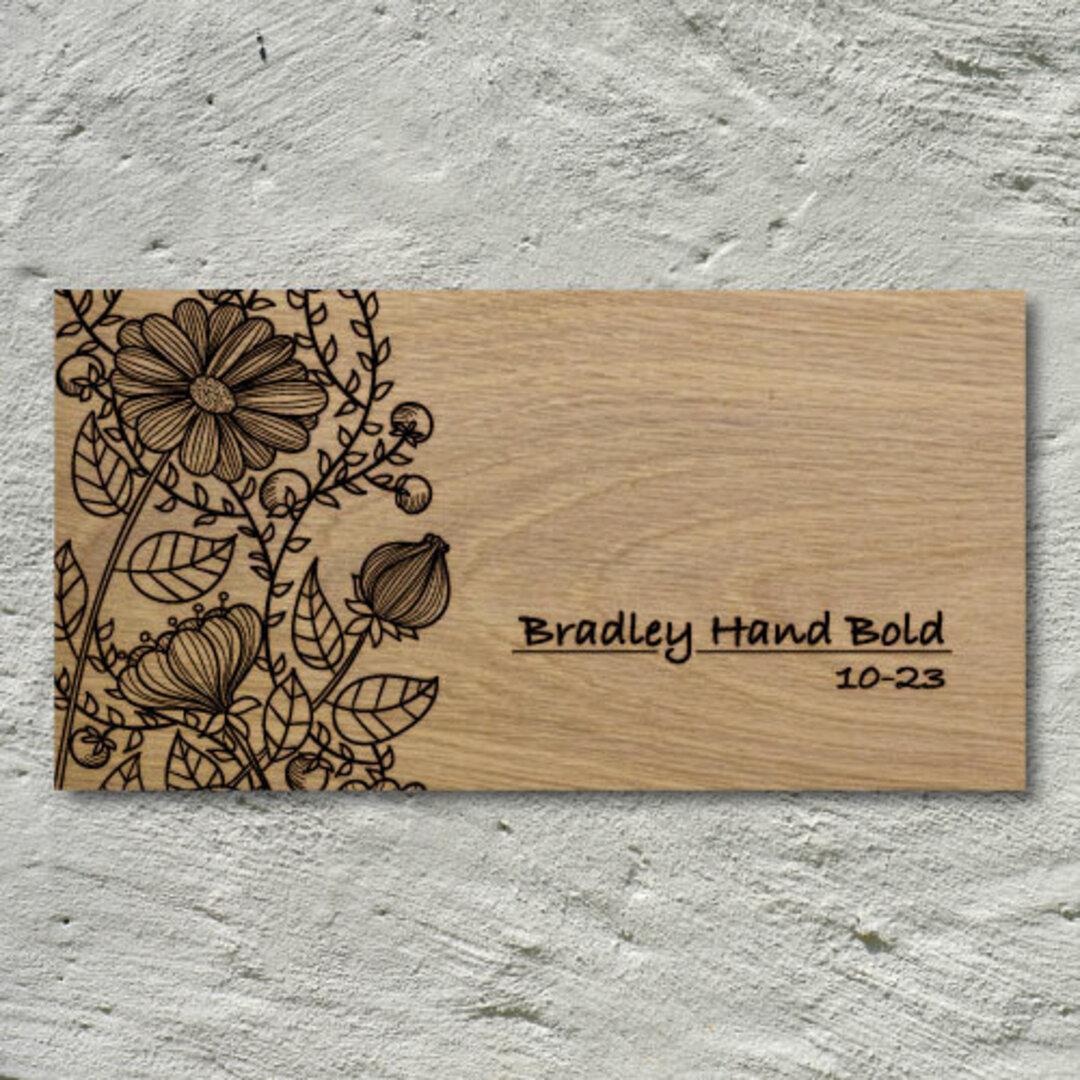 デザイン表札 | Design Leaf | Bradley Hand Bold