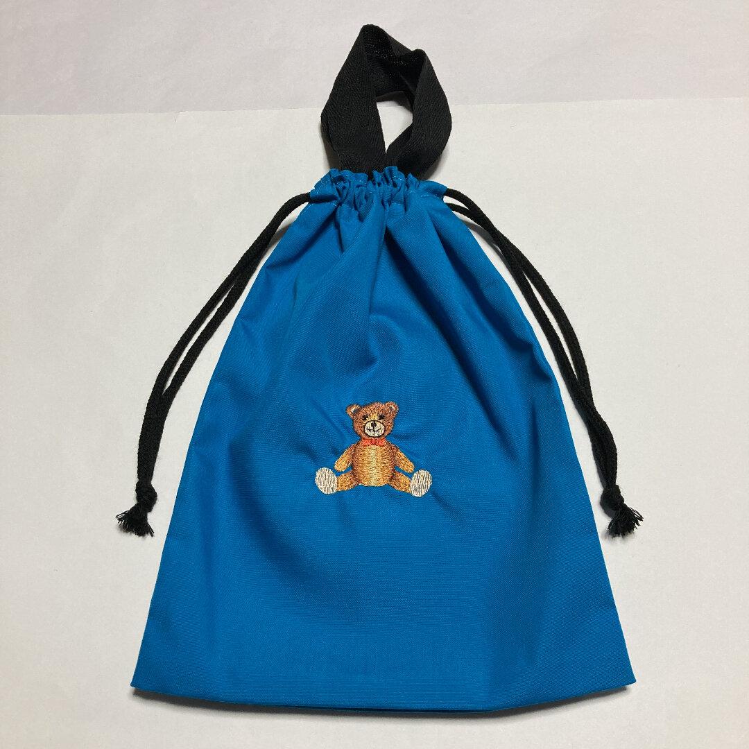 かわいいクマの刺繍入り持ち手付きシューズ入れ251