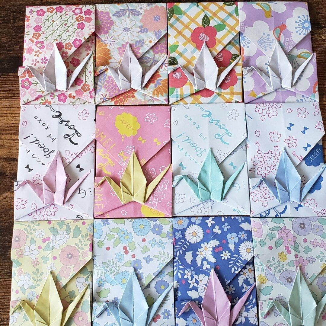 折り鶴 ポチ袋 12枚