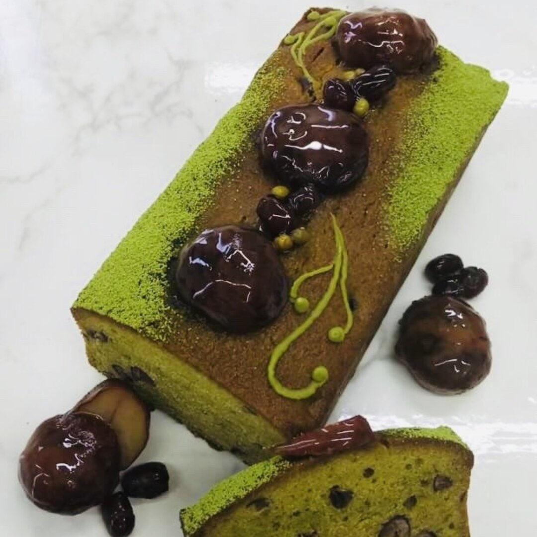 「美容ケーキ」抹茶&小豆グルテンフリーパウンドケーキ