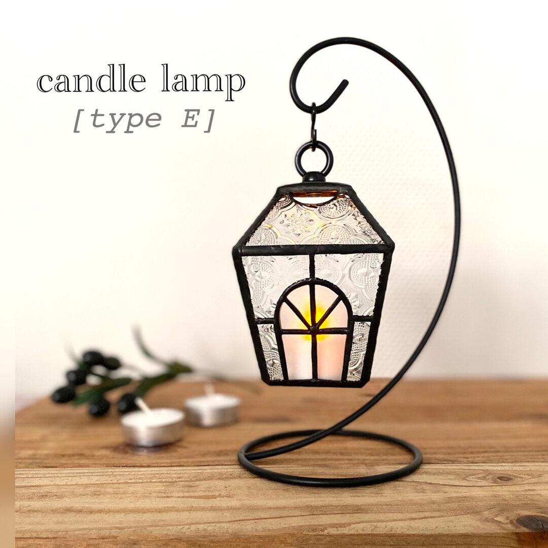 new !  ゆらゆらかわいい キャンドルランプ【E】LEDキャンドル/ハンギングスタンド付♫            ステンドグラス キャンドルホルダー